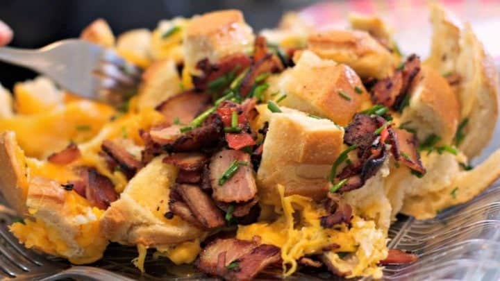 Smoked Cheesy Bacon Bread