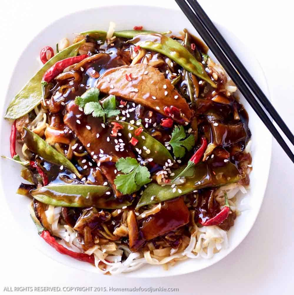 Sesame Beef Thai Noodle Dinner