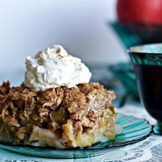 Rhubarb Apple Fruit Crisp