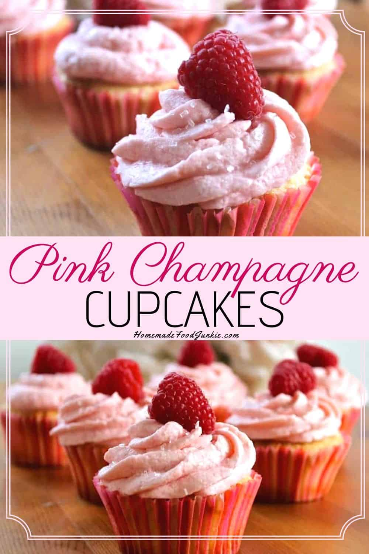 Pink Champagne Cupcakes-pin image