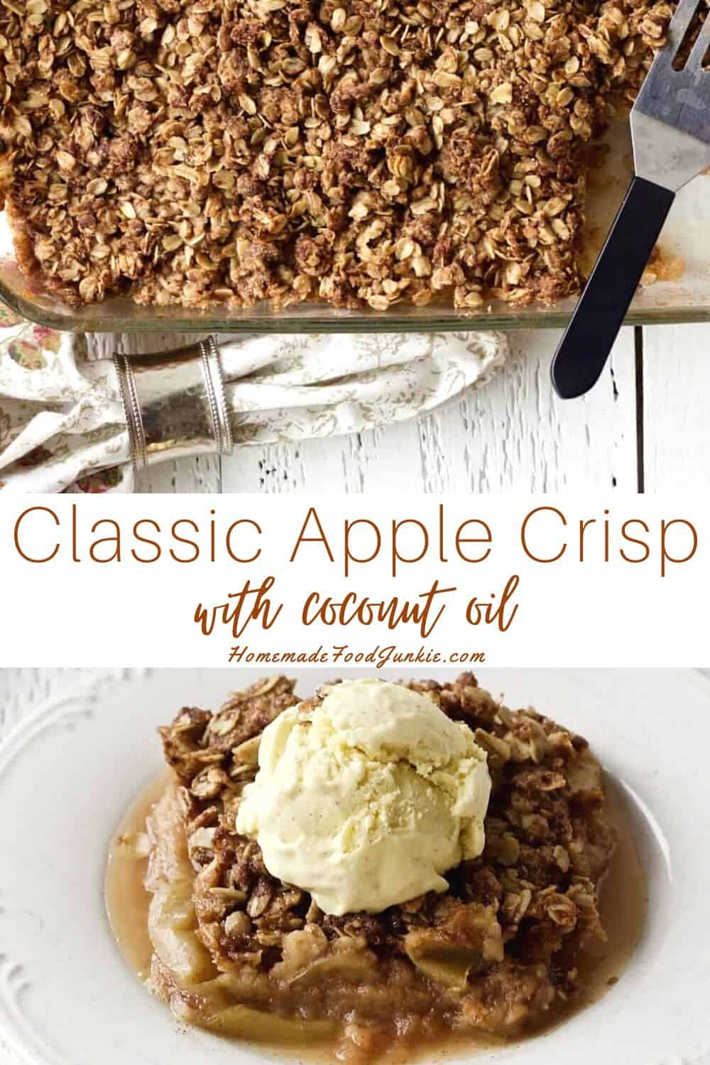 Classic apple crisp with coconut oil-pin image