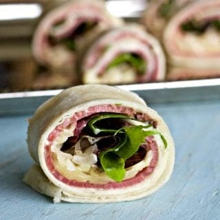 Pastrami Wraps appetizer recipe a fast and easy, tasty wrap perfect for parties!