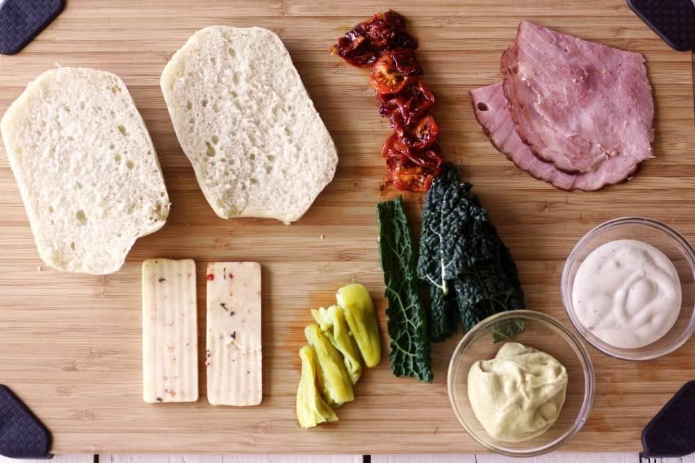 Waffled Ham Sandwich http://HomemadeFoodJunkie.com