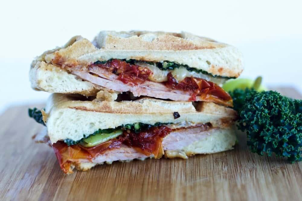 Waffled Torta Ham Sandwich Press Your Waffle Iron Into Lunch Duty! Http://Homemadefoodjunkie.com