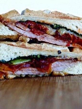Waffled Torta Ham Sandwich