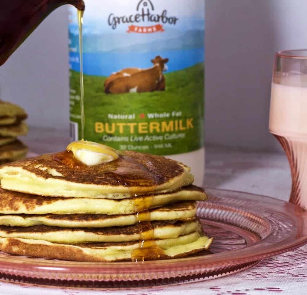 Grace Harbor Farms Buttermilk Pancakes. So rich and flavorful.http://HomemadeFoodJunkie.com