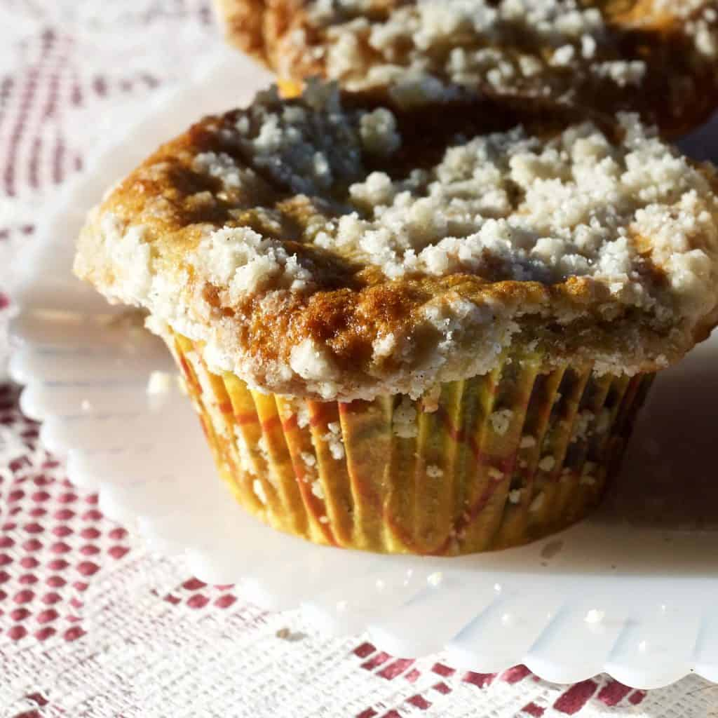 Rhubarb Blueberry Cardamom Streusel muffins | Homemade Food Junkie