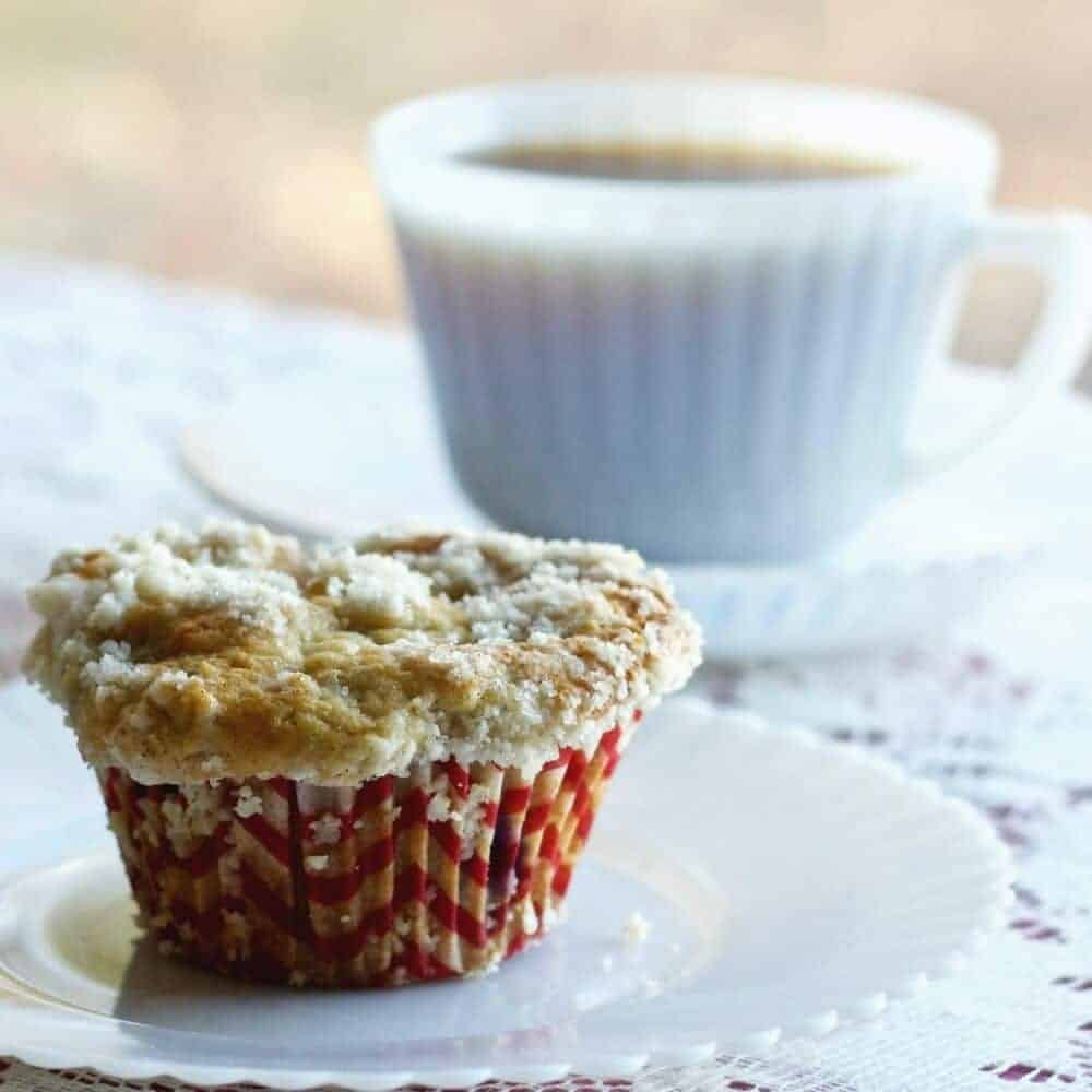 Rhubarb Blueberry Cardamom Streusel muffins http://HomemadeFoodjunkie.com