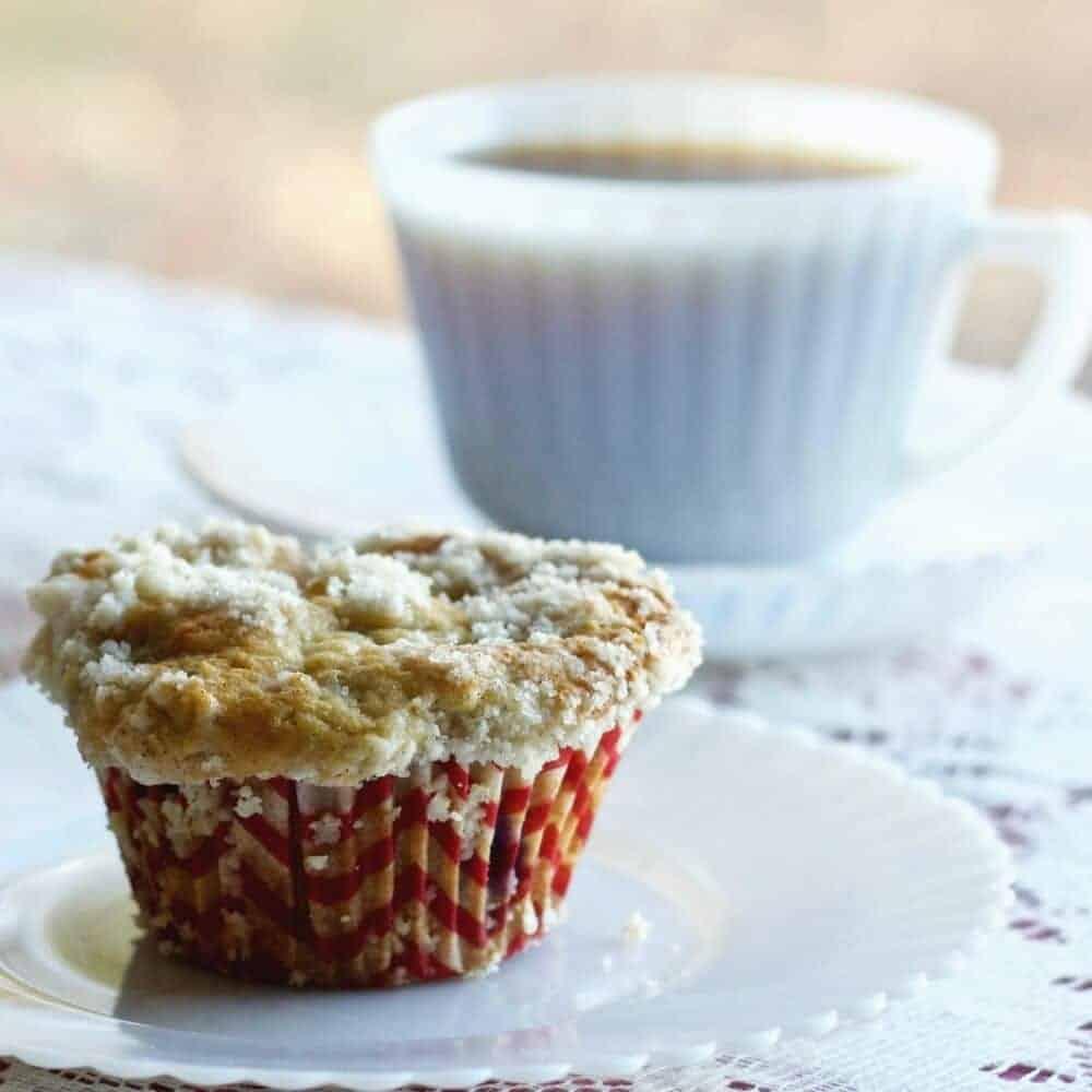 Rhubarb Blueberry Cardamon Streusel muffins