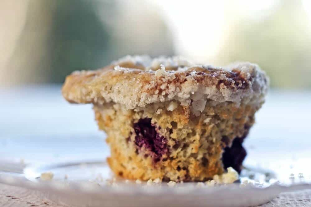 Rhubarb Blueberry Cardamom Streusel muffins are a tasty blend of ...