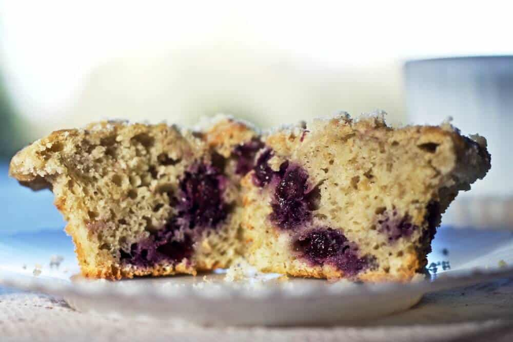 Chock full of healthy blueberries and pureed rhubarb. These muffins ...