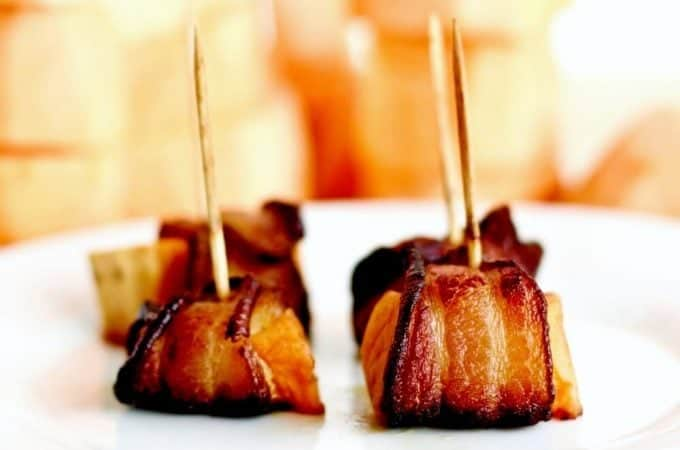 Bacon Wrapped Sweet Potatoes