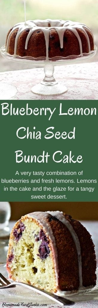 Blueberry Lemon Chia Seed Bundt Cake | Homemade Food Junkie