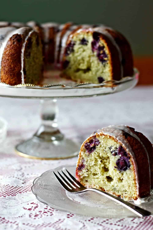 Blueberry Lemon Chia Seed Bundt Cake