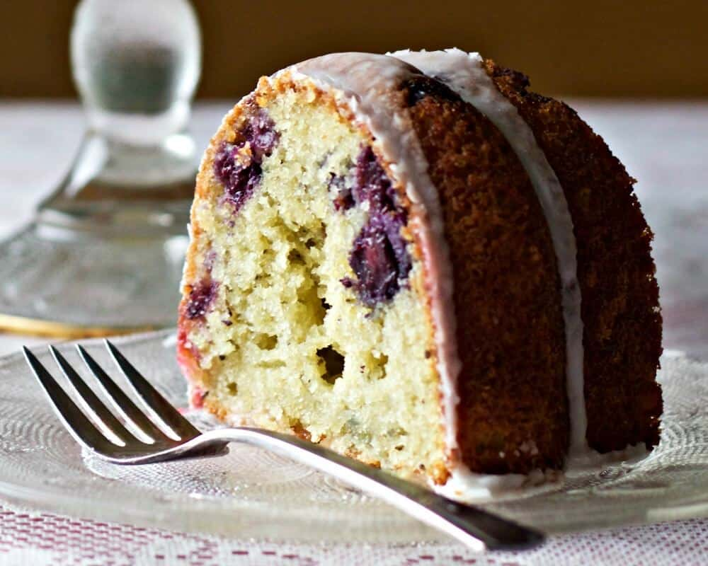 Blueberry Lemon Chia Seed Bundt Cake