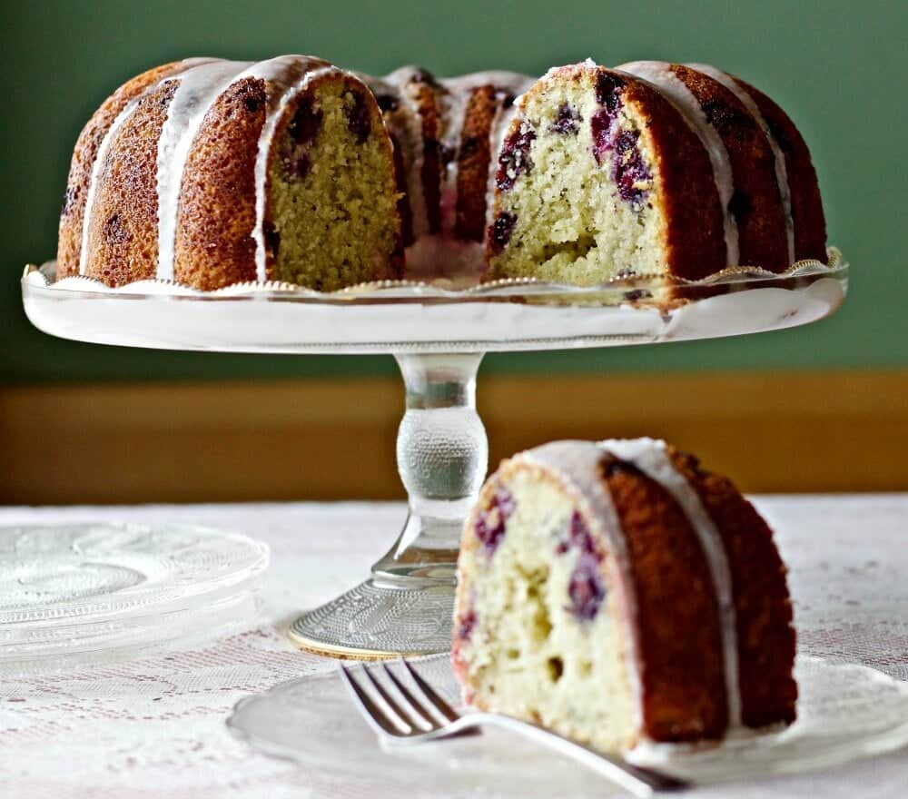 Blueberry Lemon Chia Seed Bundt Cake http://HomemadeFoodJunkie.com