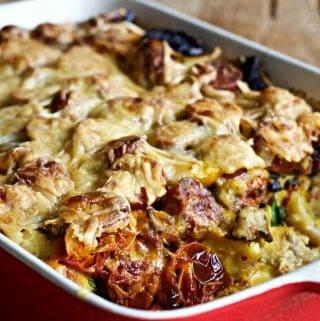 Overnight Sausage Casserole http://HomemadeFoodjunkie.com