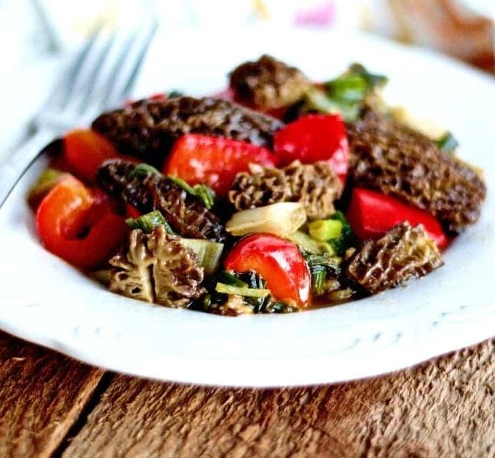 Morel Mushroom Vegetable Saute