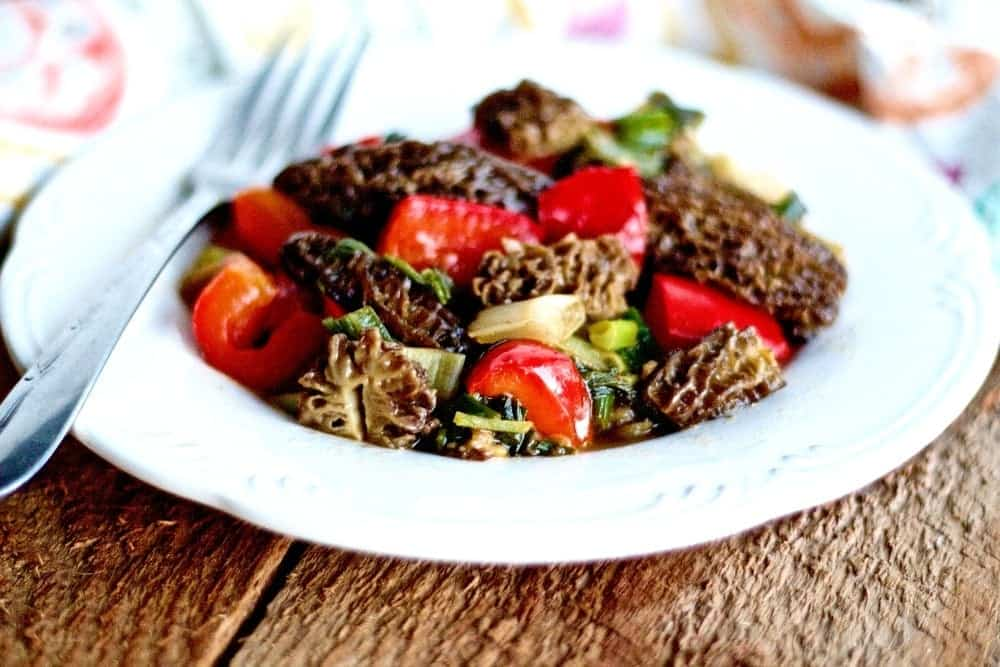 Morel Mushroom Vegetable Saute