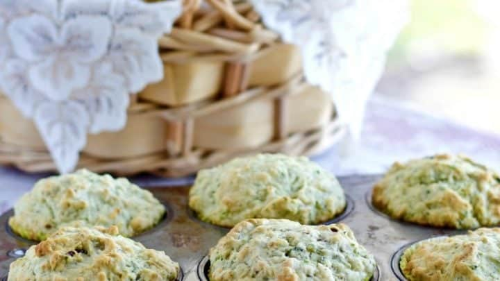 Savory Zucchini Bacon Cheese Muffins