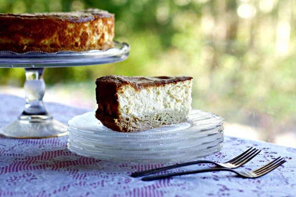 Buttermilk Cheesecake With Rhubarb Glaze