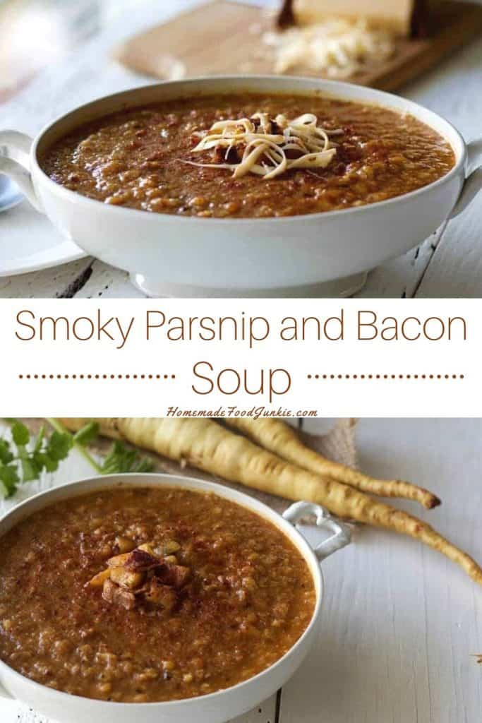 Smoky Parsnip and Bacon Soup-pin image