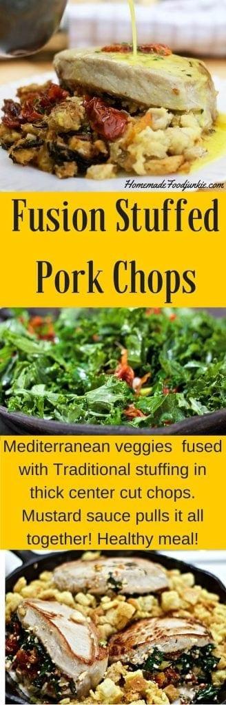Fusion Stuffed Pork Chops