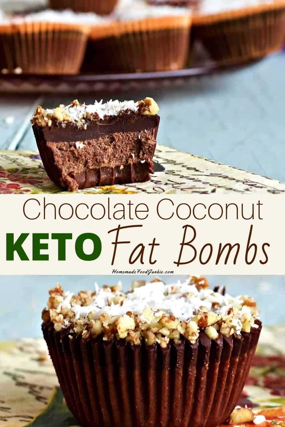 Chocolate Coconut KETO Fat Bombs-pin image