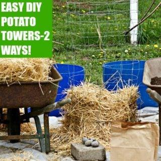 Easy DIY Potato Towers!