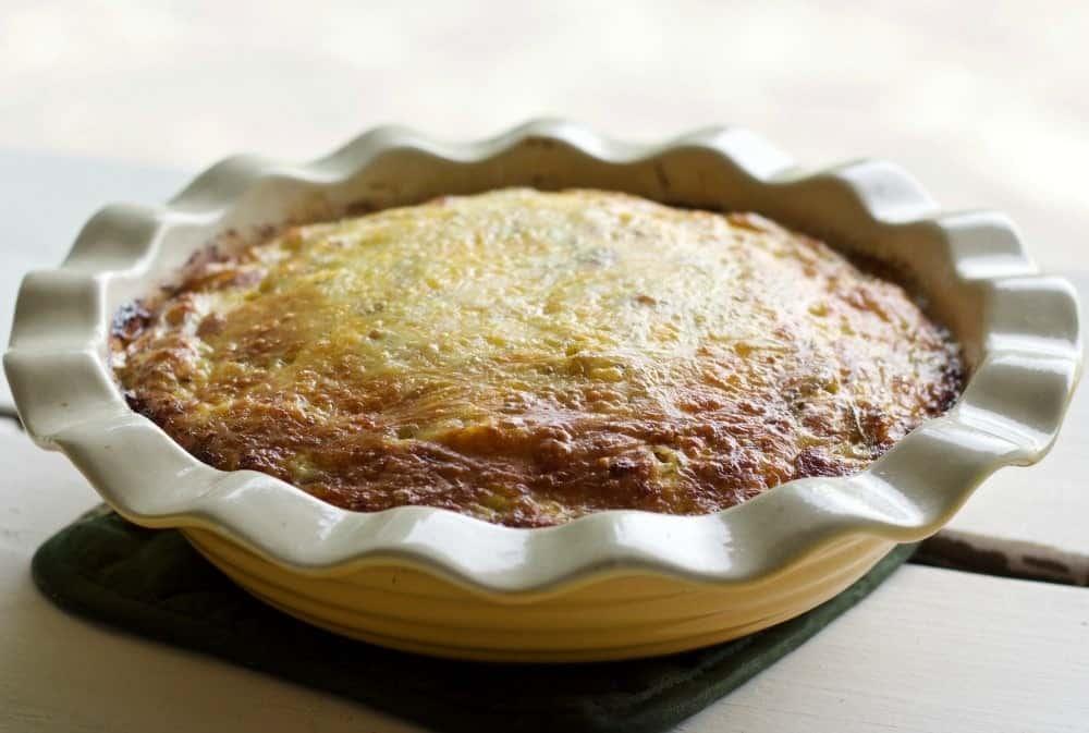 Crustless Sausage Cheese Quiche