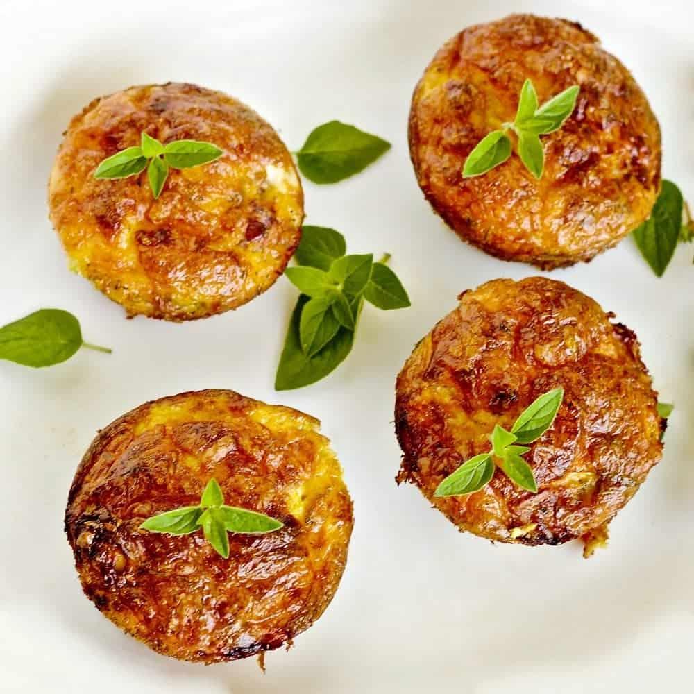 Crustless Sausage Cheese mini Quiche