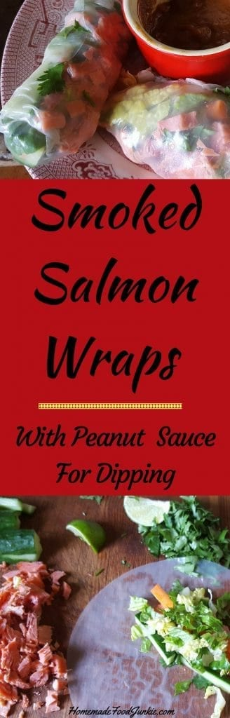 Smoked Salmon Wraps are Low-Fat, Low-Sodium, Low-Sugar and Dairy-Free. SO easy, healthy and delicious http://HomemadeFoodjunkie.com