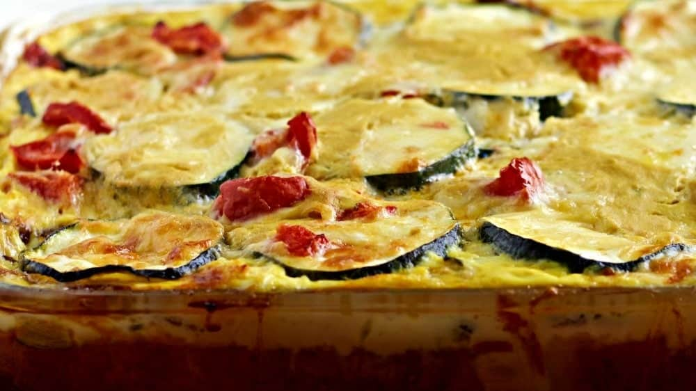 Overnight Smoky Zucchini Breakfast Casserole