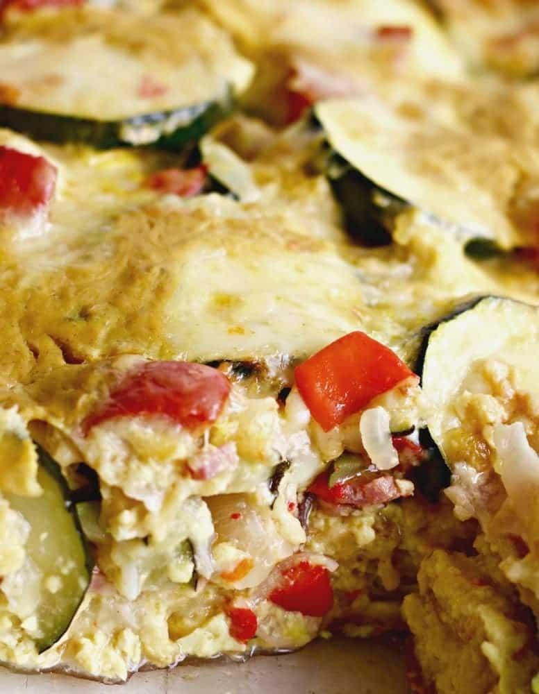 Overnight Smoky Zucchini Breakfast Casserole