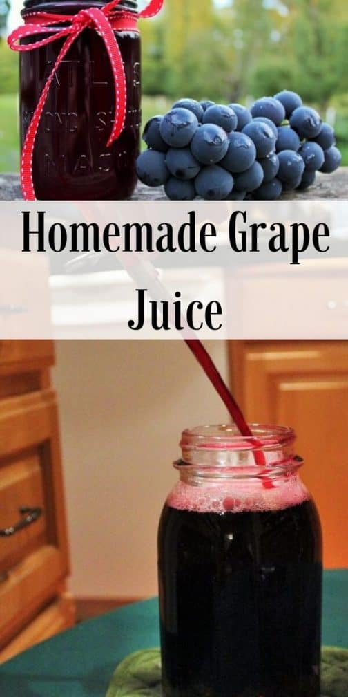 Homemade Grape Juice-Pin image