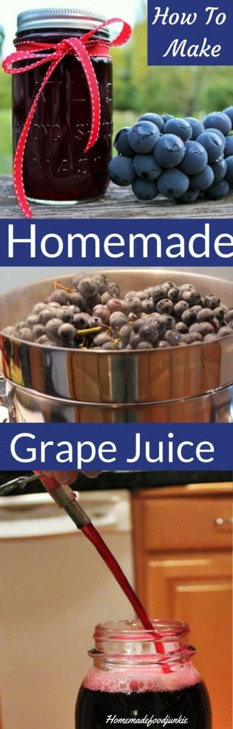 How to make Homemade Grape Juice using a steam juicer