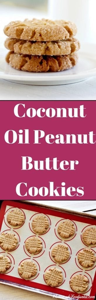 Coconut Oil Peanut Butter Cookies are dairy free and delicious! America's favorite cookie.
