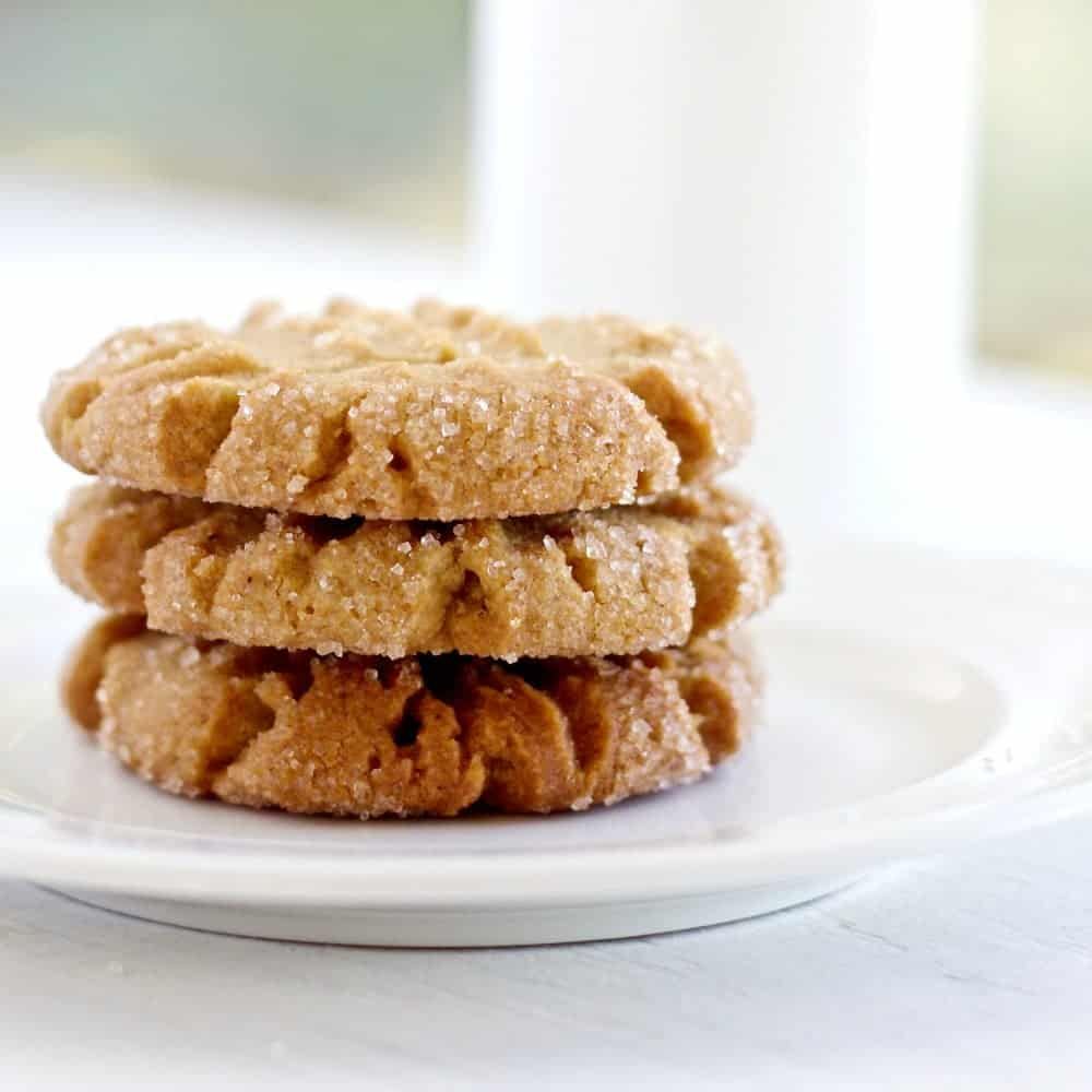 Coconut Oil Peanut Butter Cookies Tasty cookies with coconut oil. Dairy free snacks!