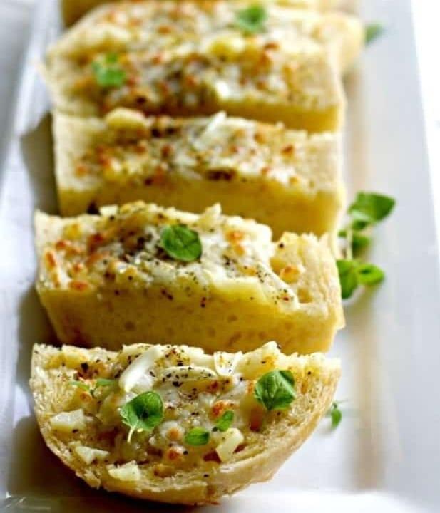 Easy Bruschetta Cheesy Garlic Bread