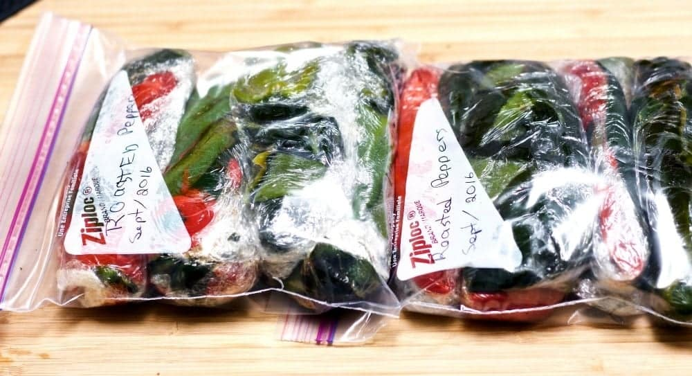 How to Roast Peppers for the freezer