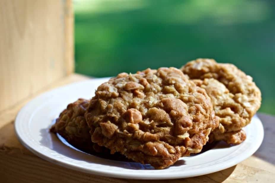 Ranger Cookies make a good large group event treat. They have lots of flavors and crunchiness. These are good travelers and make an easy grab food for large crowds.