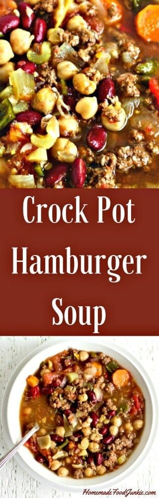 CrockPot Hamburger Soup. This healthy, versatile Crock pot Hamburger soup is one of my favorites. A high fiber, dairy-free soup. I've updated this recipe to include instant pot instructions as well. Enjoy!