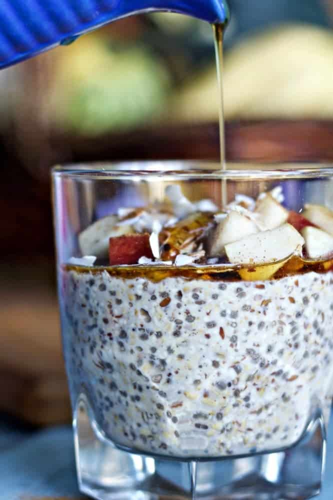 Overnight Steel Cut Oats Breakfast