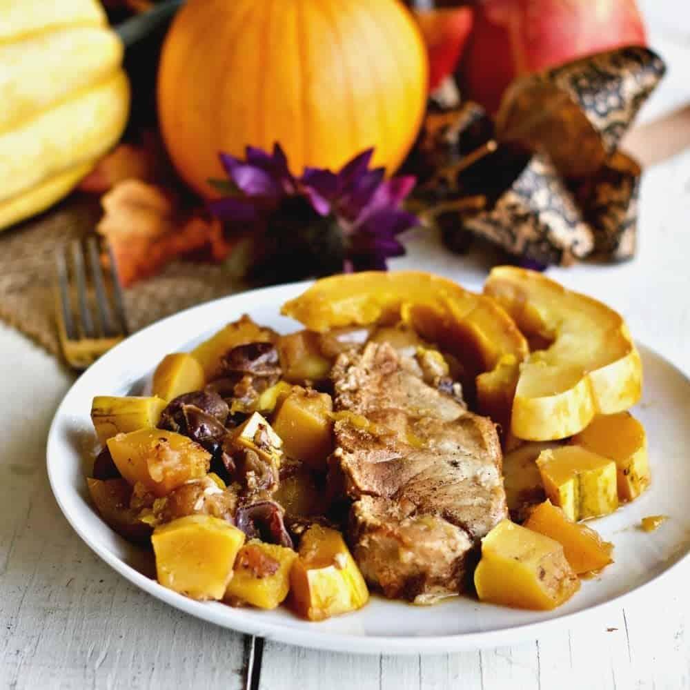 Slow Cooker Pork Apple Squash Dinner