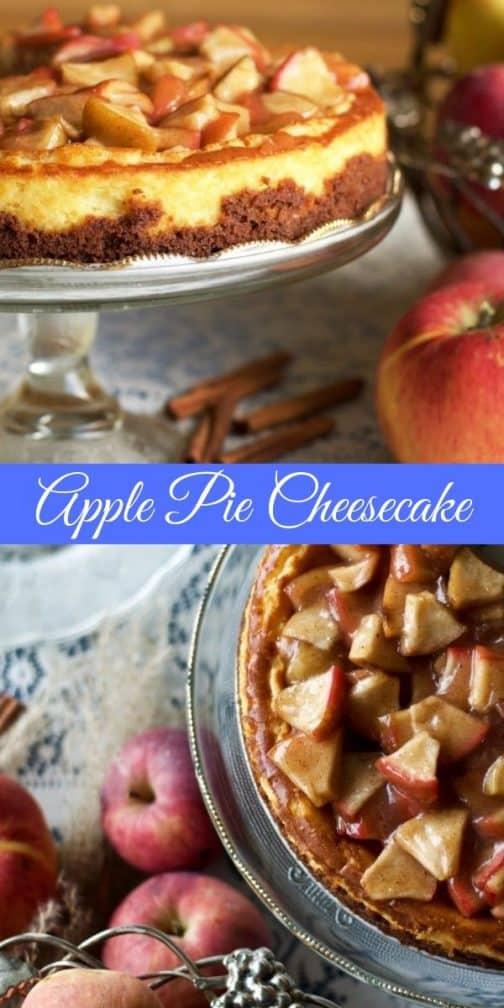 Apple Pie Cheesecake Pin Image