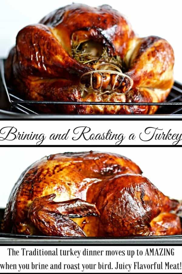 Brining And Roasting A turkey is simple to do and produces wonderful flavorful, juicy meat. #turkey #turkeybrine #turkeybrinerecipe #howtobrineturkey #thanksgivingturkey #thanksgivingrecipes