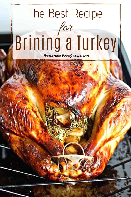 Brining and roasting a turkey-pin image