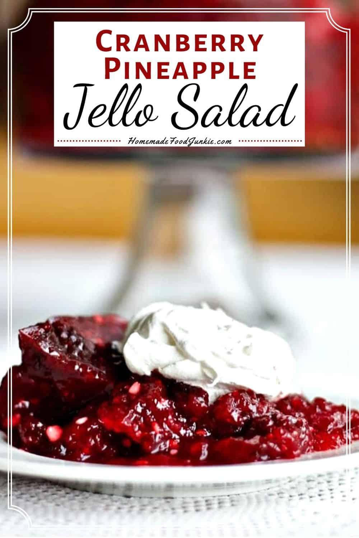 Cranberry Pineapple Jello Salad-pin image