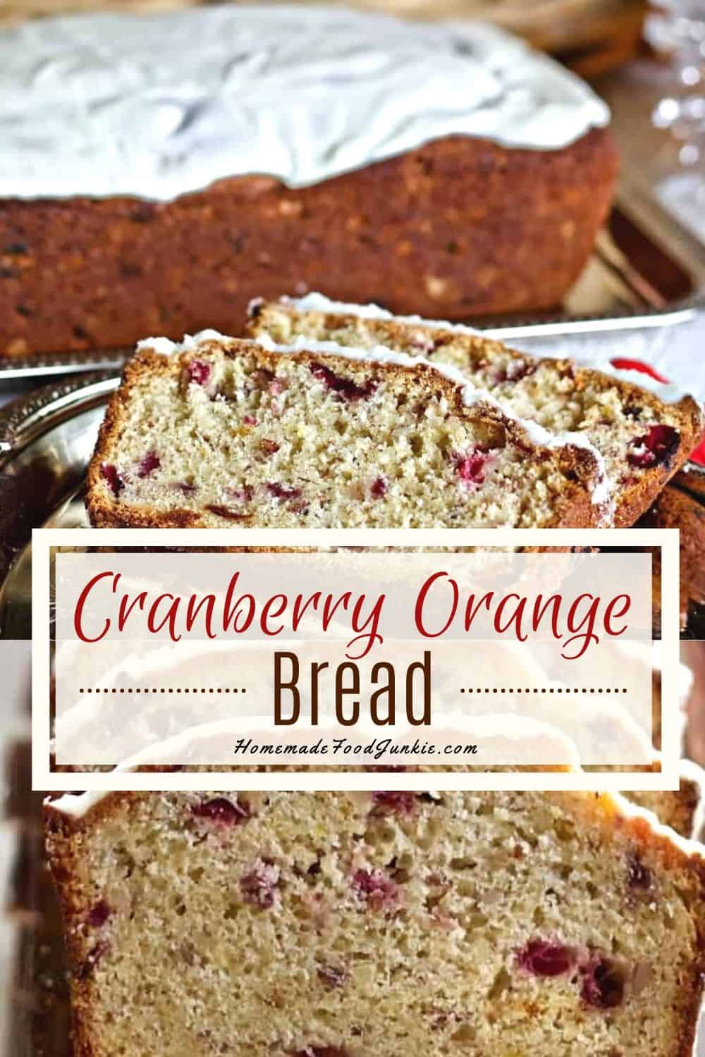 Cranberry Orange Bread-pin image