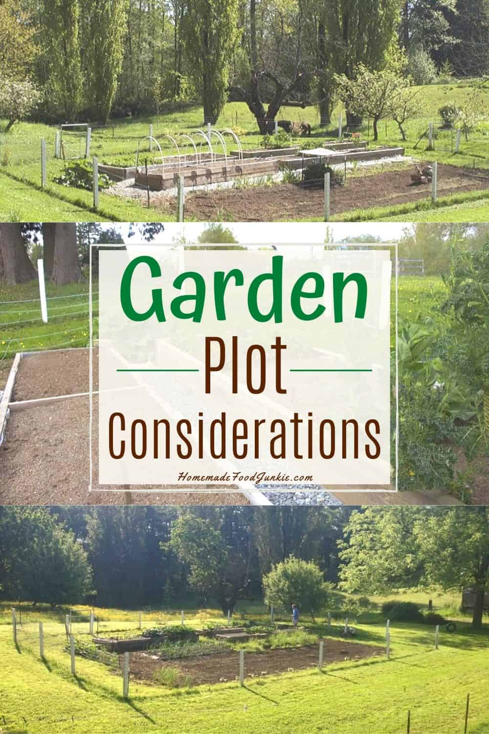 Garden Plot Location tips-pin image